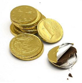 Chocolate Money Coins